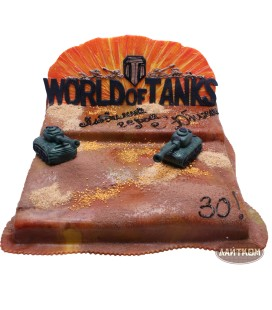 Торт «World of tanks» - 1кг